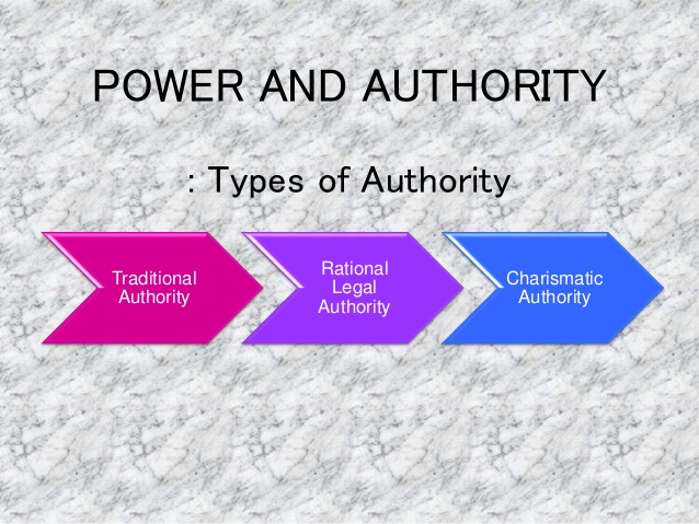 types of authority in leadership