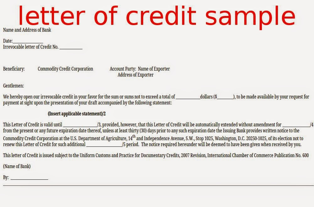Everything About Letters Of Credit Article1000 Com